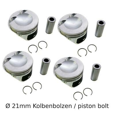 4x Kolben mit Ringen Audi Seat Skoda VW 2.0 TFSI CCZA CDNA CBFA piston with ring