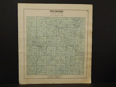 Michigan, Isabelle County Map, Gilmore Township  1879 Y5#81