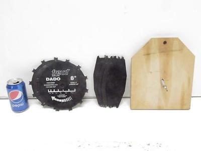 "Good Used Freud Dado #D208M Stacked 6 Blade Set Blades 8"" Dia. 5/8"" Arbor"