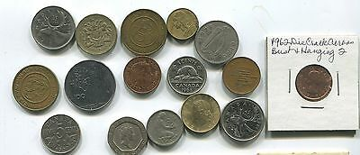 Miscellaneous Foreigh  Lot Of 15 -  Old Coins