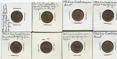 Canada  - Lot Of 8  Small Cents, -  With Minor Vairities  ???