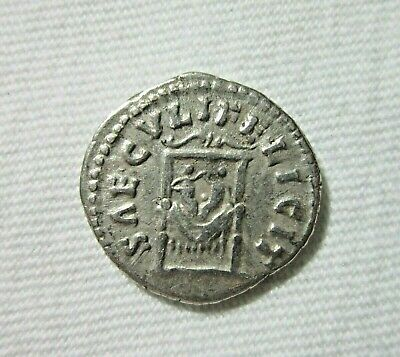 Silver Denarius. Faustina Ii, Rome 154-157 Ad. Two Infants On Throne Reverse.