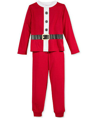 FAMILY PAJAMAS $46 NEW 0972 Santa Suit Pajama 2Pc Kids 8