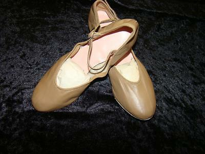 Tan Character/theatrical Dance Shoes Size 4 1/2 Medium Brand New Last Pair Left