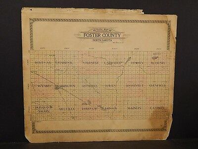 North Dakota, Foster County Map, c.1910, K9#03