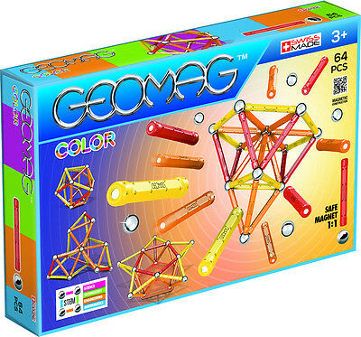 GEOMAG, Color 64 pcs, Magnet Konstruktion, Neu, Ovp, 8400262
