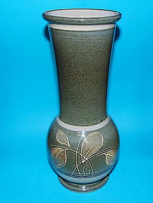 "DENBY pottery ornament large  vase 9.5""  1st quality   (6980)"