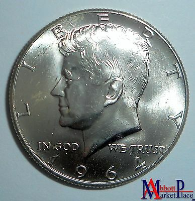 1964-D Bu Kennedy Half Dollar From Roll Lt3057