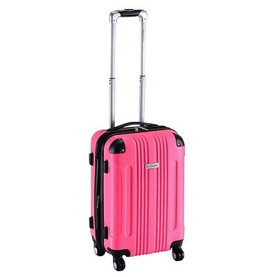 """New Expandable 20"""" ABS Carry On Luggage Travel Bag Trolley Suitcase 5 Colors"""