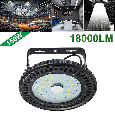 150W UFO LED High Bay Light lamp Factory Warehouse Industrial Gym Shed Lighting