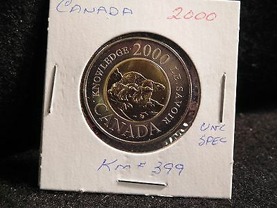 Canada : 2000   2 Dollars (Double Rings)  Coin  Specimen (#276) Km#399