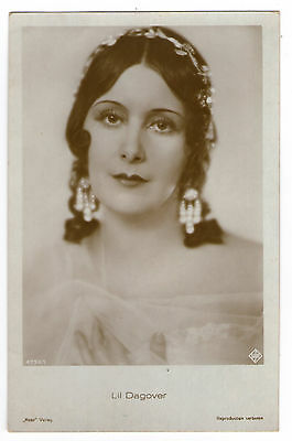 Cpa H14 Ross Art Deco Lil Dagover Actrice Cinema Allemand Miss Beaute Diademe