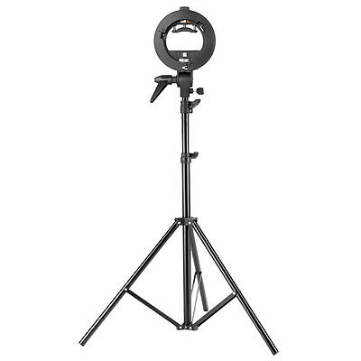 "Neewer S-Type Bracket Holder with Bowens Mount and 75"" Light Stand for Speedlite"