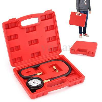 100PSI Auto Oil Pressure Tester Set Gauge Engine Diagnostic Tools With Adapters