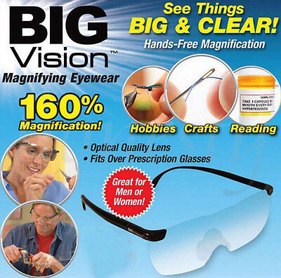 Big Vision Magnifying Presbyopic Glasses Eyewear Reading 160% Magnification UK