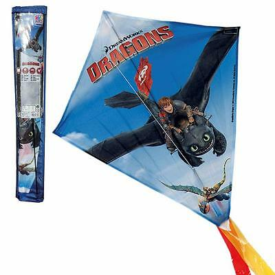 Dragons - Children Flying Dragon Kite Hiccup & Toothless 55 x 60 cm