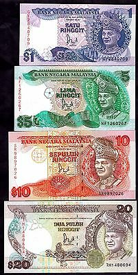 Malaysia. Four Notes, (1985-94),  inc One Ringgit GY2840709.