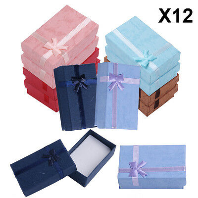 12Pcs High Quality Necklace Bracelet Ring Set Small  Jewellery Gift Boxes Bag