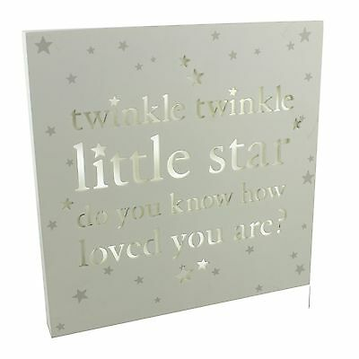 Bambino Light Up Nursery Wall Plaque - Twinkle Twinkle Little Star