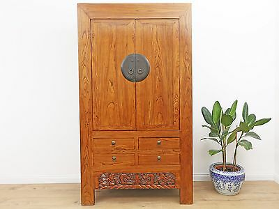Wedding Cabinet Wardrobe File Cabinet Chinese Solid Wood China Asia Antique Y209
