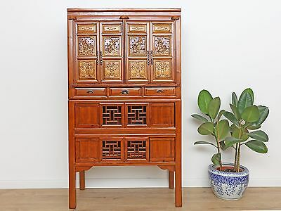 Wedding Cabinet Wardrobe File Cabinet Chinese Solid Wood China Asia Antique Y161