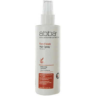 Abba by ABBA Pure & Natural Hair Care Firm Finish Hair Spray 8 oz New Packaging