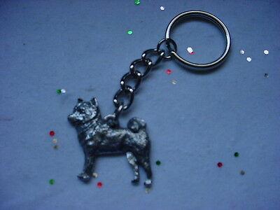 SHIBA INU dog PEWTER Silver KEYCHAIN Christmas ornament Key Chain Ring puppy NEW