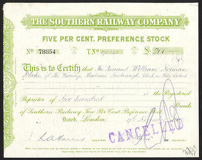 Southern Railway Co., 1929, Preference stock