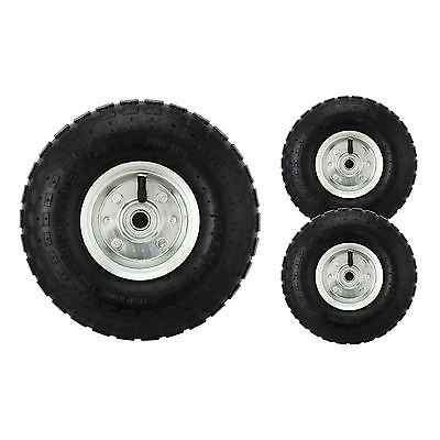 "2 x 10"" Pneumatic Sack Truck Trolley Wheel Barrow Tyre Tyres"
