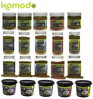 Komodo Complete Dry Tortoise Holistic Diet Food 5 Flavours 170G, 340G, 680G, 2Kg