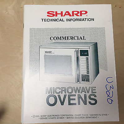 Sharp Technical Information Manual for Commercial Microwave Ovens ~ Service~1988