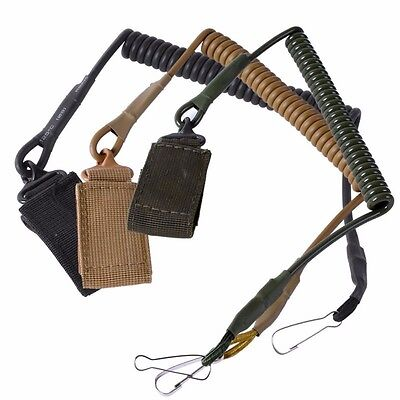 Tactical 1 Single Point Pistol Lanyard Sling Elastic Gun Handgun Secure Spring