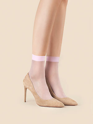 Fiore So Sweet Plain Short Socks choice Pastel Pink, Blue or Lilac 2 Pair Pack