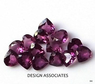 Rhodolite Garnet 8  Mm Fancy Pear Cut  Or Cleftless Heart Cut All Natural Each