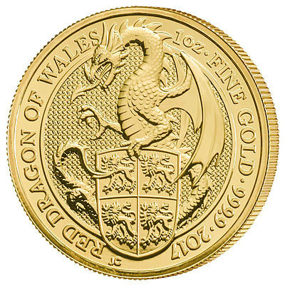 2017 Great Britain 1 oz Gold Queen's Beasts The Dragon £100 Coin SKU46070