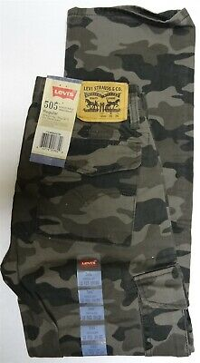 Levi's Boy's 505 Regular Adjustable Waistband Jeans 12 Regular Camo 26 x 26