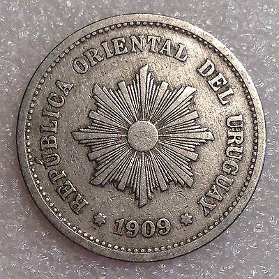 Uruguay 5 Centesimos 1909A Copper-Nickel