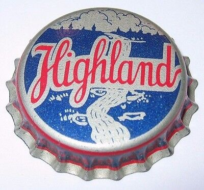 Highland Spring Water Soda Bottle Cap; St. Paul, Mn; 1940's; Unused Cork