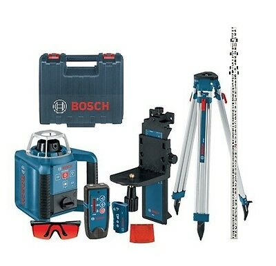 Bosch GRL 300HVCK Self-Leveling Rotary Laser w/ Layout Beam Complete Brand New
