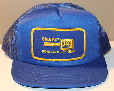 Pontiac Buick GMC Gold Key Cap Hat Vintage Snapback Size 7-7.5 Adjustable