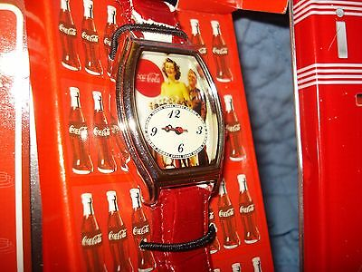 Coca Cola Wrist Watch In Metal Tin with Warranty