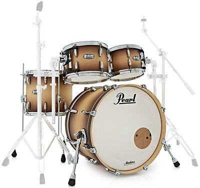 "Pearl Master Complete Shell Set MCT924XEP/C351 Satin Natural Burst 22"" BD Ahorn"