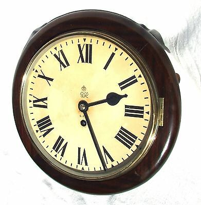 GEORGE VI Mahogany GPO Chain Fusee Wall Clock 10 INCH Dial : CLEANED & SERVICED