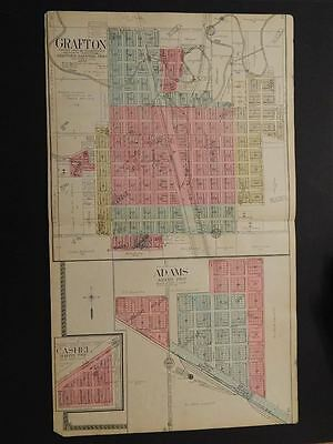 North Dakota, Walsh County Map, Grafton, Adams, Cashel Double Pg. 1910 K9#53
