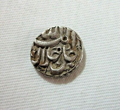 India, Mughal. Silver 1/2 Rupee. Akbar I, 1556-1605 Ad. Month Of Di. Rare. Sharp