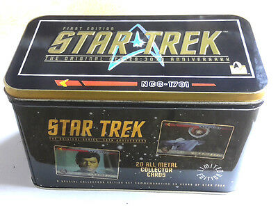 1996 Star Trek 30th Anniversary Collector Tin-20 Metallic Card Set- Ltd- Sealed