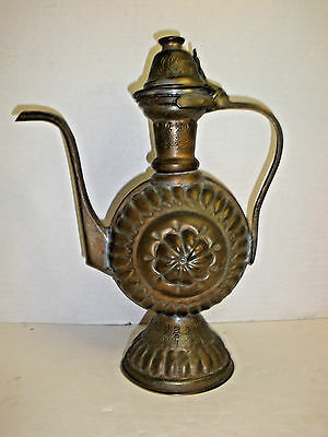 Vintage Islamic Handmade Copper Tea pot Coffee Pot Egypt Turkish Style