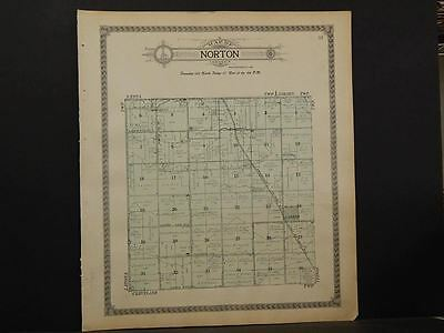 North Dakota, Walsh County Map, Norton Township 1910 K9#79