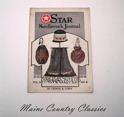 Antique Sewing Magazine 1924 Star Needlework Journal Crochet Embroidery Patterns