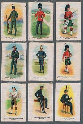 1914 ITC Regimental Uniforms of Canada Tobacco Silks Complete Set of 55